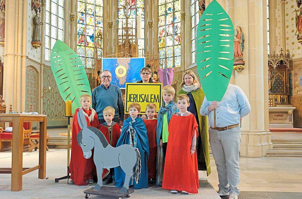 Palmsonntag in St. Georg Familiengottesdienst