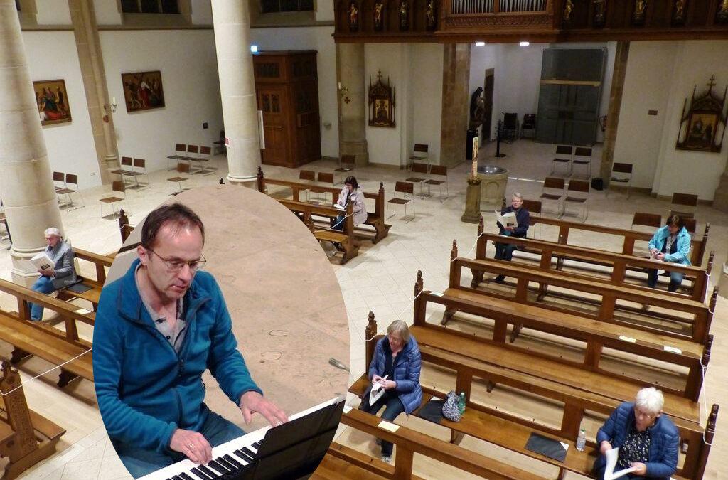 Kirchenchor-Probe in Coronazeiten